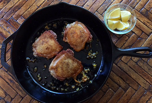 crispy chicken thighs with lemon 1